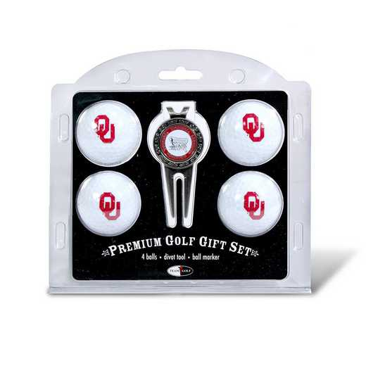 24406: 4 Golf Ball And Divot Tool Set Oklahoma Sooners