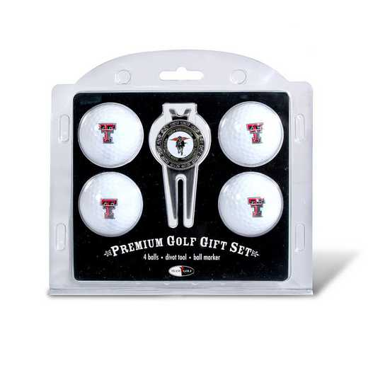 25106: 4 Golf Ball And Divot Tool Set Texas Tech Red Raiders