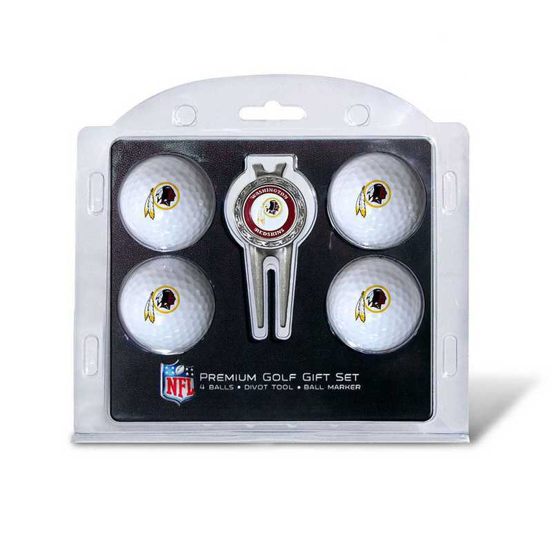33106: 4 Golf Ball And Divot Tool Set Washington Redskins