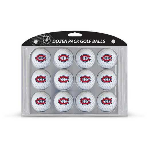 14403: Golf Balls, 12 Pack Montreal Canadiens