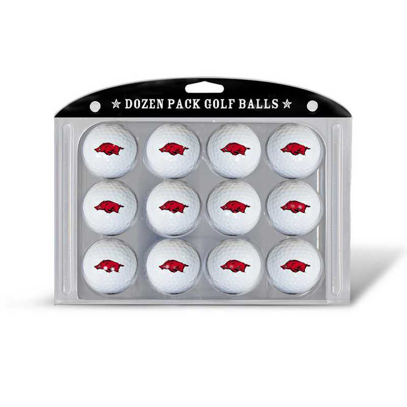 20403: Golf Balls, 12 Pack Arkansas Razorbacks