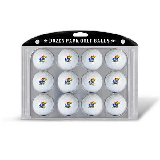 21703: Golf Balls, 12 Pack Kansas Jayhawks