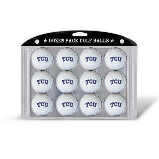25303: Golf Balls, 12 Pack TCU Horned Frogs
