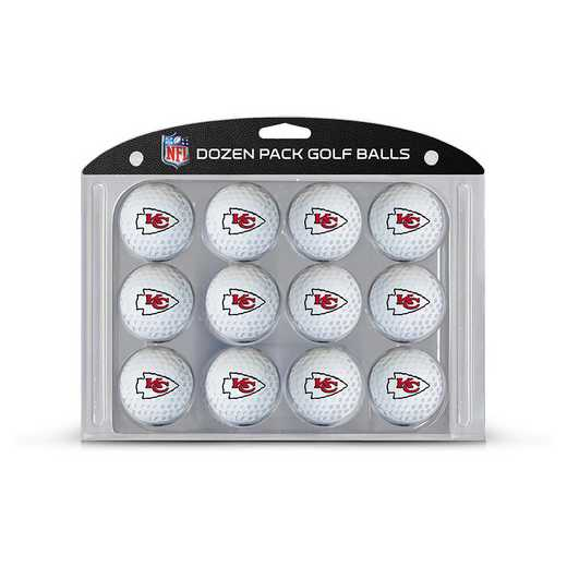 31403: Golf Balls, 12 Pack Kansas City Chiefs