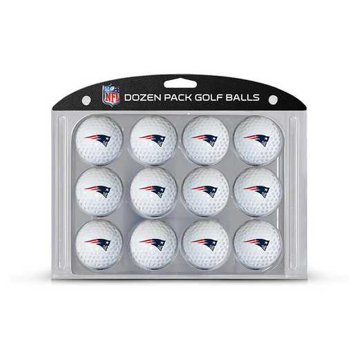 31703: Golf Balls, 12 Pack New England Patriots
