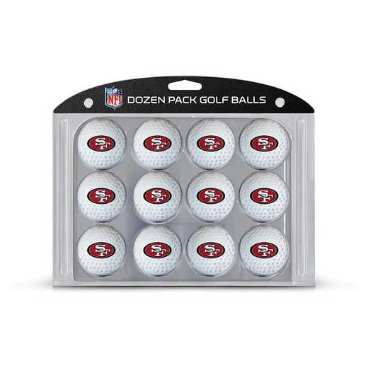32703: Golf Balls, 12 Pack San Francisco 49ers