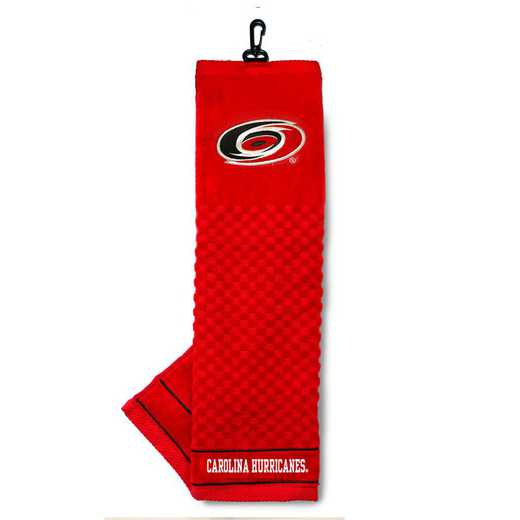 13410: Embroidered Golf Towel Carolina Hurricanes