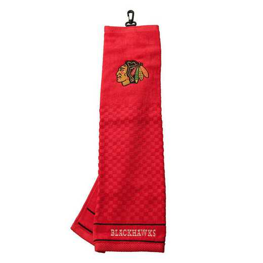 13510: Embroidered Golf Towel Chicago Blackhawks