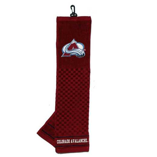 13610: Embroidered Golf Towel Colorado Avalanche