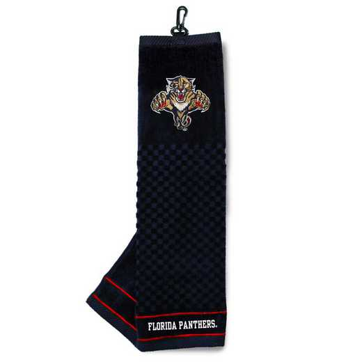 14110: Embroidered Golf Towel Florida Panthers
