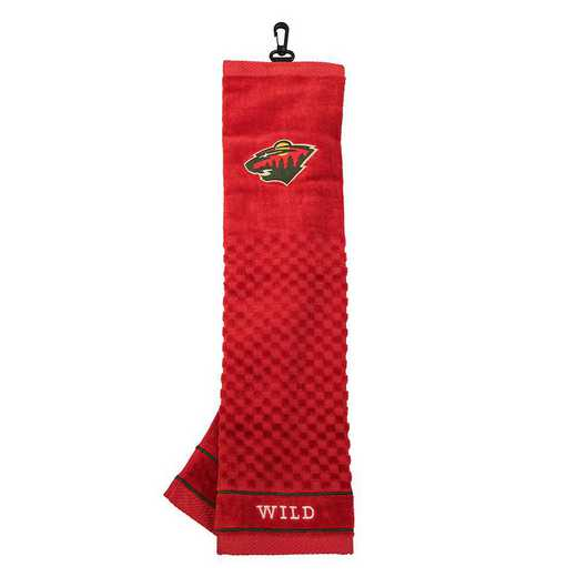 14310: Embroidered Golf Towel Minnesota Wild