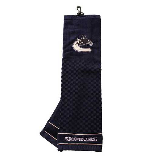 15710: Embroidered Golf Towel Vancouver Canucks