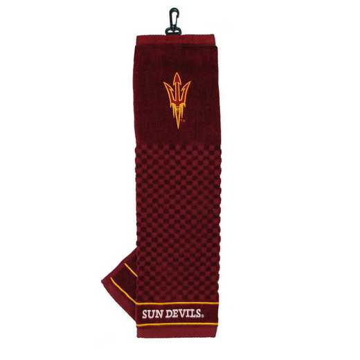 20310: Embroidered Golf Towel Arizona State Sun Devils