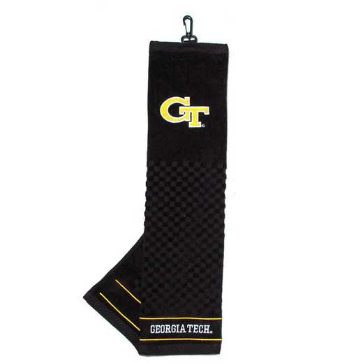 21210: Embroidered Golf Towel Georgia Tech Yellow Jackets