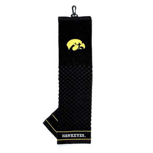 21510: Embroidered Golf Towel Iowa Hawkeyes