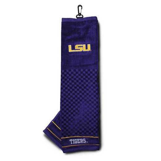 22010: Embroidered Golf Towel LSU Tigers