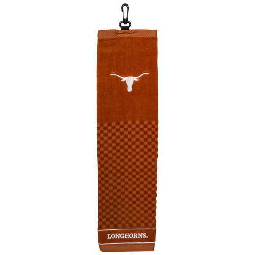 23310: Embroidered Golf Towel Texas Longhorns
