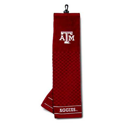 23410: Embroidered Golf Towel Texas A&M Aggies
