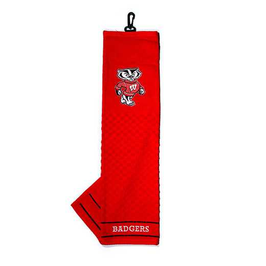 23910: Embroidered Golf Towel Wisconsin Badgers