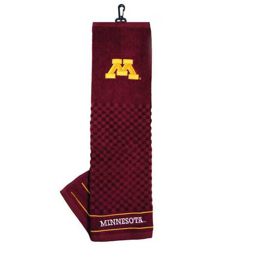 24310: Embroidered Golf Towel Minnesota Golden Gophers