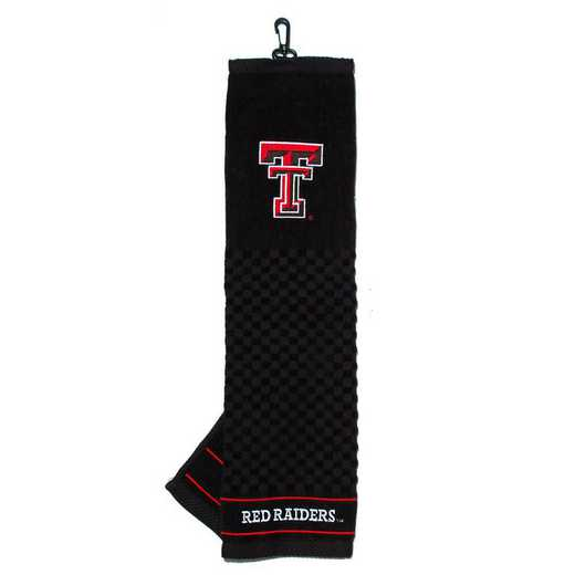 25110: Embroidered Golf Towel Texas Tech Red Raiders