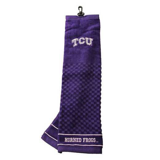25310: Embroidered Golf Towel TCU Horned Frogs