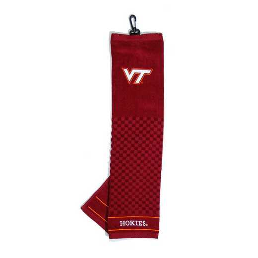 25510: Embroidered Golf Towel Virginia Tech Hokies