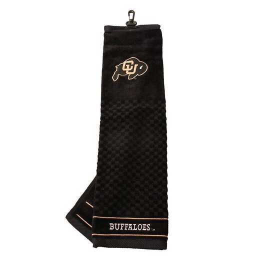 25710: Embroidered Golf Towel Colorado Buffaloes