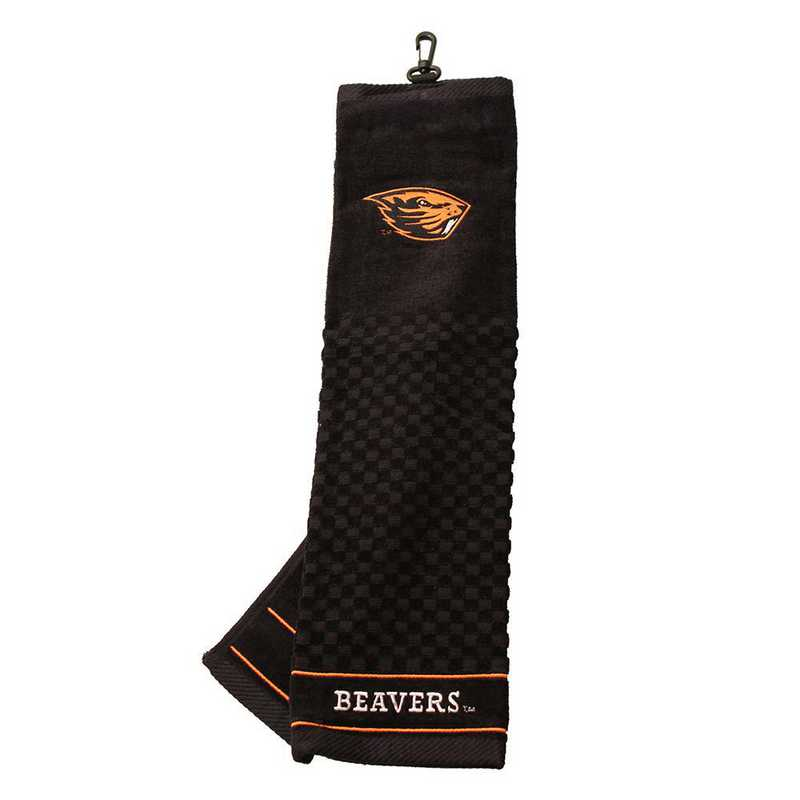 27410: Embroidered Golf Towel Oregon State Beavers