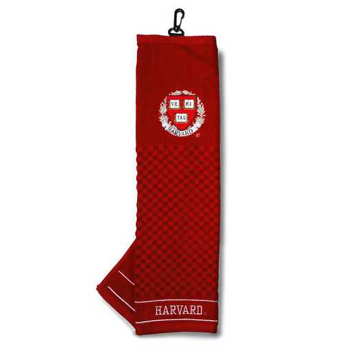 27710: Embroidered Golf Towel Harvard
