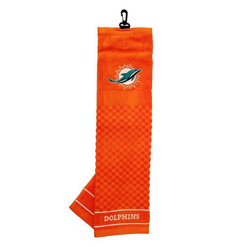 31510: Embroidered Golf Towel Miami Dolphins