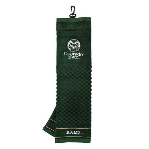 44910: Embroidered Golf Towel Colorado State Rams
