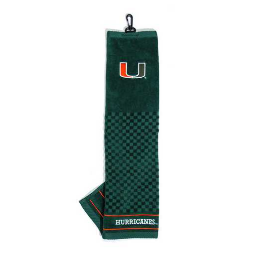 47110: Embroidered Golf Towel Miami Hurricanes