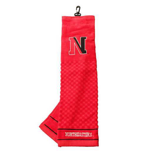 72410: Embroidered Golf Towel Northeastern