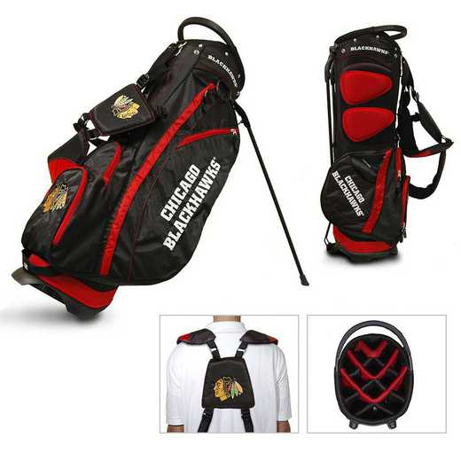 13528: Fairway Golf Stand Bag Chicago Blackhawks