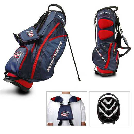 13728: Fairway Golf Stand Bag Columbus Blue Jackets