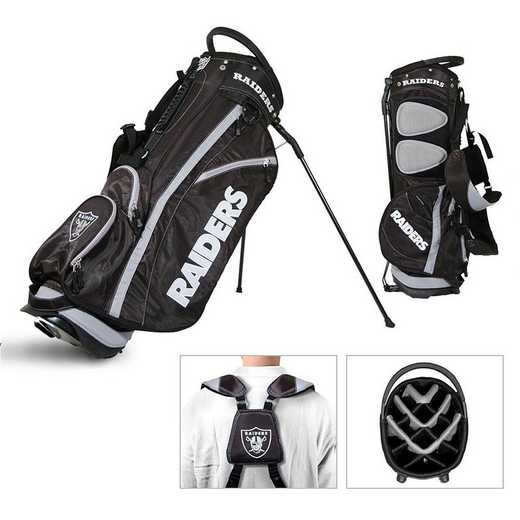 32128: Fairway Golf Stand Bag Oakland Raiders
