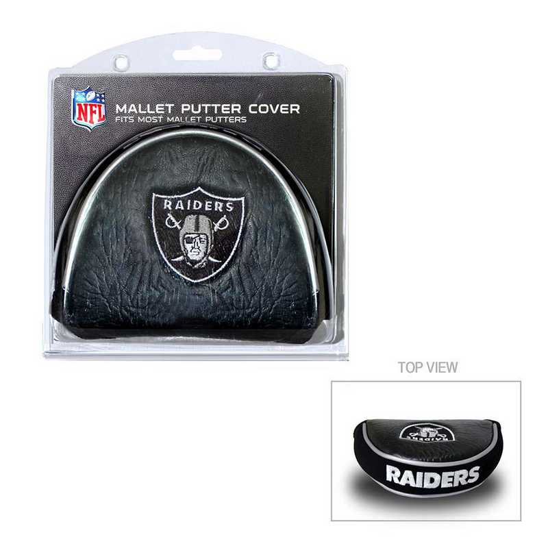 32131: Golf Mallet Putter Cover Oakland Raiders