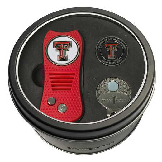 25157: Tin GtST Swchfx DVT CpClip Ball Mkr Texas Tech Red Raiders