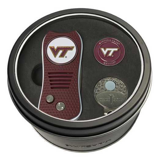 25557: Tin GtST Swchfx DVT CpClip Ball Mkr Virginia Tech Hokies