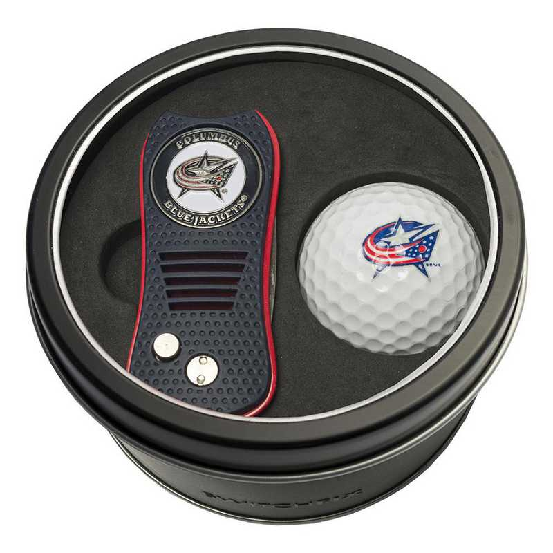 13756: Tin Gft St w/ Switchfix DVT Glf Ball Columbus Blue Jackets