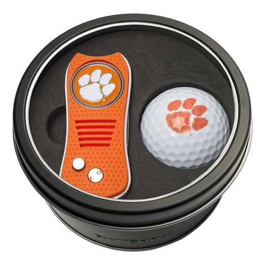 20656: Tin Gft St w/ Switchfix DVT Glf Ball Clemson Tigers