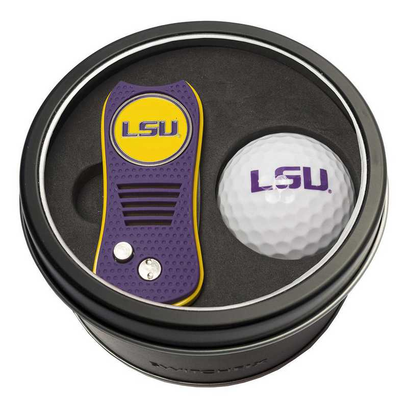 22056: Tin Gft St w/ Switchfix DVT Glf Ball LSU Tigers