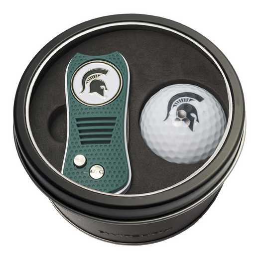 22356: Tin Gft St w/ Switchfix DVT Glf Ball Michigan State Spartans