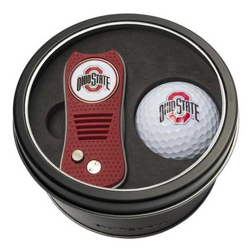 22856: Tin Gft St w/ Switchfix DVT Glf Ball Ohio State Buckeyes
