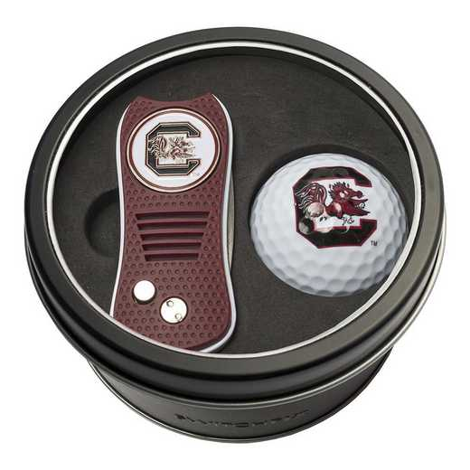 23156: Tin Gft St w/ Switchfix DVT Glf Ball South Carolina Gamecocks