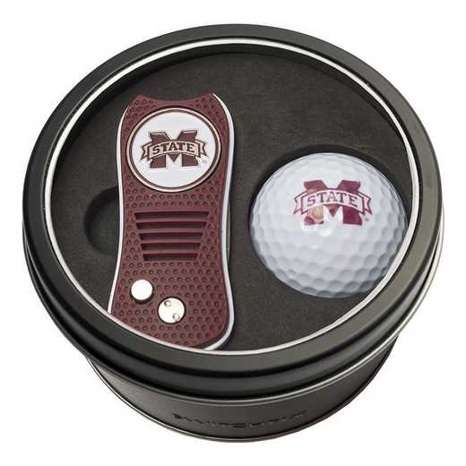 24856: Tin Gft St w/ Switchfix DVT Glf Ball Mississippi State Bulldogs