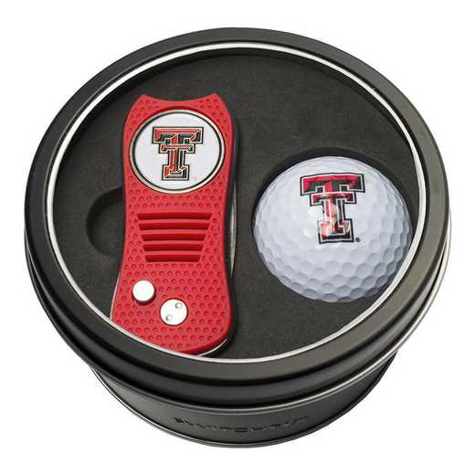 25156: Tin Gft St w/ Switchfix DVT Glf Ball Texas Tech Red Raiders
