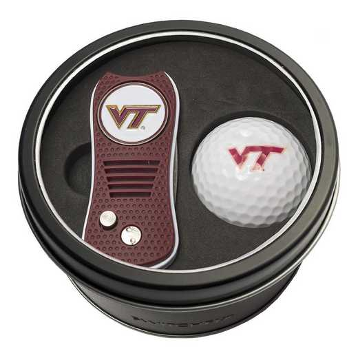 25556: Tin Gft St w/ Switchfix DVT Glf Ball Virginia Tech Hokies
