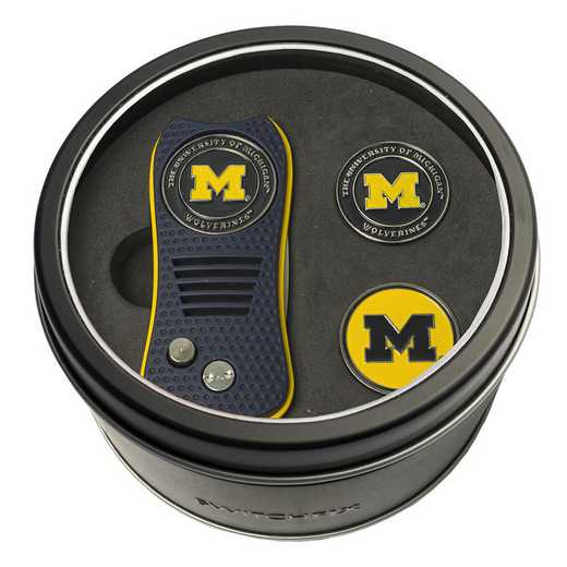 22259: Tin GftSt Swtchfix 2BallMkrs Michigan Wolverines